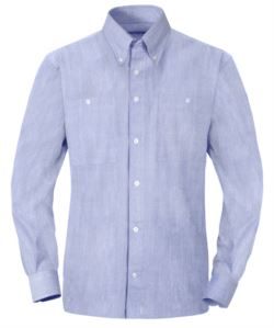 Herren Langarm Baumwollhemd Farbe hellblau