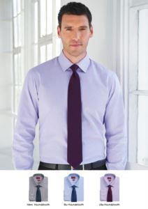 Elegantes Hemd aus 100% Baumwolluniform, Stoff mit leichten Buegeleigenschaften. Verfuegbare Farben: weiss und hellblau.