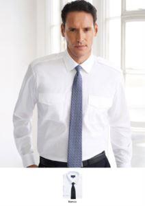 Herrenhemd lange ärmelElegantes Herrenhemd aus Polyester und Baumwolle, mit leichtem Eisengewebe.