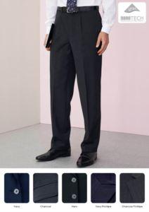 Elegante Herrenhose mit klassischem Schnitt, zwei Leistentaschen, aus Polyesterwolle und Lycragewebe, schmutzabweisend verarbeitet. Fordern Sie ein kostenloses Angebot an.