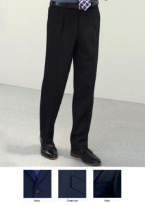 Elegante Herrenhose mit klassischem Schnitt, zwei Leistentaschen, leicht zu tragen, aus Polyester- und Viskosegewebe. Kontaktieren Sie uns fuer ein kostenloses Angebot.