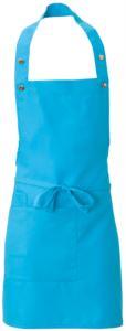 Schuerze mit Seitentasche, aus Polyester, Farbe tuerkisblau