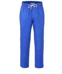 Kochhose, elastischer Bund mit Spitze, Farbe koenigsblau