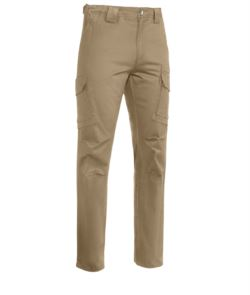 Multitaschen Hose Aus Stretch Baumwolle