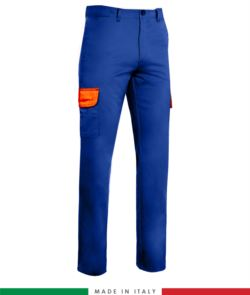 Zweifarbige Hose Mit Mehreren Tasche