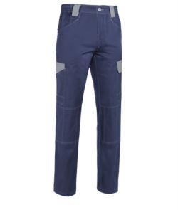 Zweifarbige Multitaschen Hose